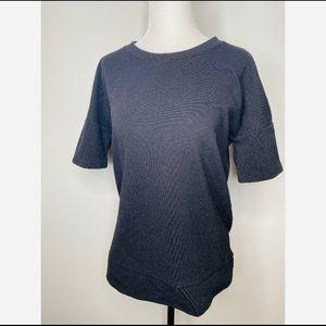 Madewell Black Ribbed T-shirt Casual Crewneck knit